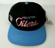 f8f5e9ef9a0ed3 VTG 90s Houston Oilers Snapback Hat SCRIPT SPORTS SPECIALTIES Two Tone NWT  Cap