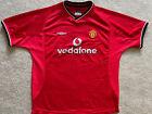 Manchester United 2000-02 Umbro Vodafone Red Home Football Shirt - XL Kids