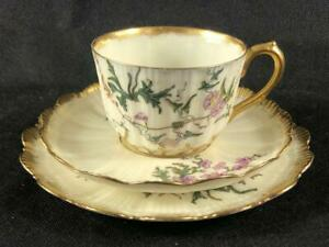 FINE ANTIQUE FRENCH LIMOGES ( M. Redon.) PORCELAIN CUP, SAUCER & PLATE. #7.