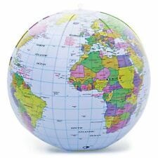 INFLATABLE BLOW UP WORLD GLOBE ATLAS WORLD MAP EARTH EDUCATIONAL