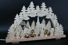Arches Figurines D´ Hiver avec Chasse-Neige 50x30cm Neuf Erzgebirge