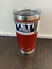 YETI Rambler 20oz Vacuum Insulated Tumbler w/ Magslider Lid Brick Red New