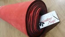 """Red """"Alcantara"""" Type Suede Auto Headliner Fabric W/ 1/8"""" FOAM SOLD BY THE YARD"""