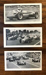 1954 Kane Modern Racing Cars Juan Manuel Fangio Vintage Rookie Card Lot.