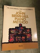 The John Brimhall piano méthode livre book 4 partition california music press