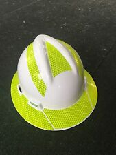 Hard Hat Decal Sticker Kit Reflective - Fluorescent Lime