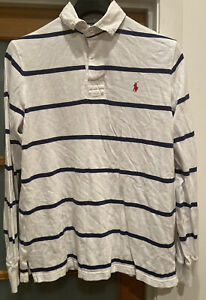 Mens Striped Rugby Polo Jumper By Ralph Lauren