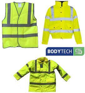 Yellow High Visibility Vest, Coat, Bomber Jacket Hi-Vis HI VIZ