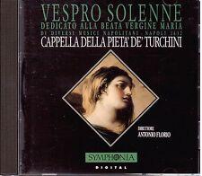 Vespro Solenne Dedicato Alla Beata Ver / Florio, Cappella Pieta' De' Turchini CD