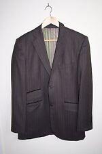 Ted Baker Designer Classic Men's 2 Button Suit Jacket Brown Stripe Wool Blend L