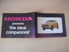 Honda N 600 Touring + Automatic model, folleto/brochure/depliant, GB