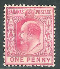 Bahamas 1906 carmine-rose 1d multi-crown watermark mint SG72