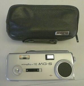 Minolta 16 Model MG-S Subminiature Camera +Original Minolta Leather Zipper Case