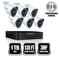 Night Owl 8 Channel 3MP Extreme HD Video Security System w/ 1TB DVR & 6 Cameras