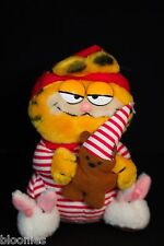 "Garfield 8"" Plush Toy Doll in Red Striped Pajamas"