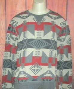 MENS DENIM & SUPPLY RALPH LAUREN  WESTERN TRIBAL SWEATSHIRT SIZE XL