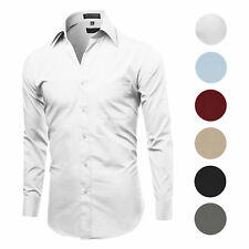 FEDULK Plus Size Mens Henley Shirt Long Sleeve Stand Collar Button Down Relaxed Fit Autumn Casual Tee T-Shirt