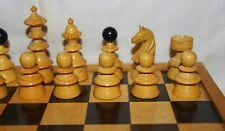 Antique c.1890 Austrian Coffee House Chess Set With Original Box