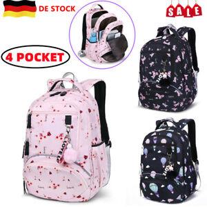 Kinder Mädchen Schulrucksack Schulranzen Schultasche Schule Kapazität Rucksack