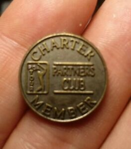 Pga Tour Golf Charter Member Partners Club Double Sided Metal Token