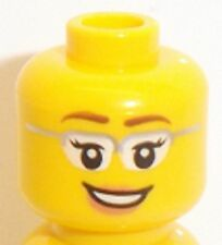 Lego Female Yellow Head x 1 Smile & Glasses for Minifigure