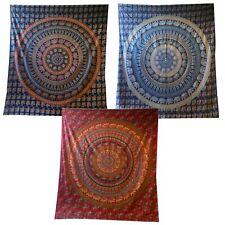 Elephants Mandala en Cercle -tagesdecke/ Tenture/ Tissu Déco - 3 Couleurs