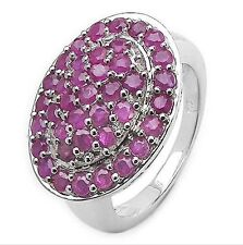 Band Natural Ruby Sterling Silver Fine Rings
