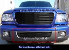 Fits 2006-2012 Ford Ranger Black Lower Bumper Billet Grille Insert