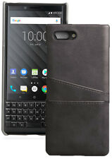 Leather Credit Card Slot Wallet Case Cover for Blackberry Key2, Key 2