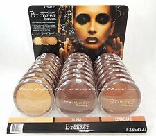 3 PCs Kleancolor Shimmer Long Lasting, Oil Free Bronzer Palettes *All 3 Shades*