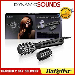BaByliss 2995U Diamond Big Hair Dual Rotating Brush With 2 Heats+ Cool Setting