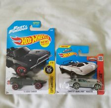Hot Wheels - Fast & Furious Lot of 2 - Corvette Roadster & Dodge Charger