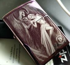 Zippo ANNE STOKES:Skull Angel/Woman, Gothic, Purple/Lila 60004293
