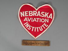 Nebraska Aviation Institute Patch / New Old Stock of Embroidery Co / FREE Ship