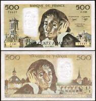 500 FRANCS 1981 FRANCE - Pascal - P156e (J.140)