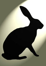 Shabby Chic Stencil Hare silhouette Rabbit Rustic A4 297x210mm wall Furniture