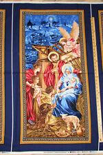 Nativity Religious Christmas Birth of Christ Fabric Panel   23