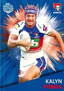 ✺New✺ 2021 NEWCASTLE KNIGHTS NRL Card KALYN PONGA Rivalry Special Edition
