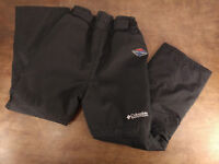 COLUMBIA TITANIUM Youth  M (10-12 ) Ski Snow Pants Omni-Tech Black