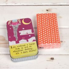 Curly Girl Tissue Tin & matching tissues LIFE WITHOUT A LITTLE RISK New