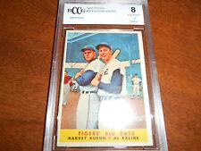 Al Kaline & Kuenn GRADED CARD!! Beckett BCCG 8!!! 1958 Topps #304 Tigers HOFer!!