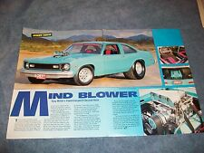 "1975 Chevy Nova Drag Car Article ""Mind Blower"""
