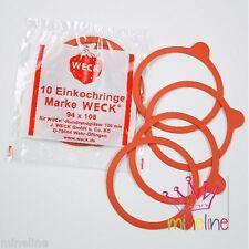 30x Einkochringe Einmachgummis 94x108 RR100  WECK Gummi Gummis