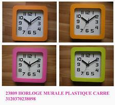 Orologio da parete quadrato in plastica vari colori
