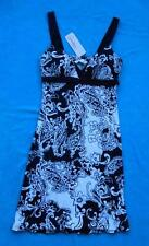 SPEECHLESS ~ NEW Black & White Floral Spaghetti Strap Dress ~ Size SMALL S ~ NWT
