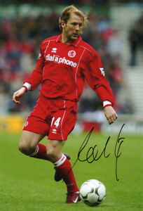 Gaizka Mendieata, Middlesbrough & Spain, signed 12x8 inch photo. COA.