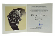 Authentic Maurice Lacroix Masterpiece Reveil Globe Instructions Watch Booklet