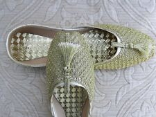 GOLD INDIAN LADIES WEDDING PARTY  KHUSSA SHOES SIZE 4
