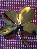 Gold Plated 4 Leaf Clover With Richard Nixon Signature, given to volunteers 1969