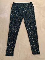 NEW LULAROE Leggings Girls Sz L//XL 8 10 12 14 $23 Blue Rocket Firework print
